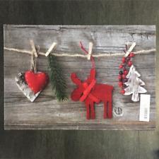€ 49,79/qm / Fußmatte Weihnachten Girlande Holz Tanne Des.934  / 40 cm * 60 cm