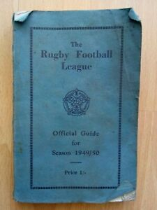 Rugby Football League Official Guide 1949/50 - Very Rare