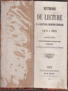 METHODE DE LECTURE   PEIGNE' M.A. FOURAUT 1866