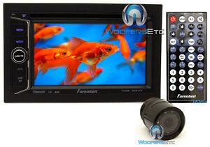 "pkg FARENHEIT TI-623B DOUBLE DIN 6.2"" TV CD DVD USB SD BLUETOOTH + BACKUP CAMERA"