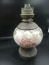 Lampe À Pétrole Poeclaine Ancienne Style Art Nouveau