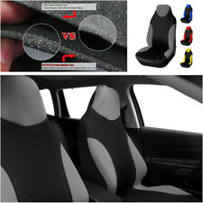 Gray Polyester Fabric Single Front Car Seat Cover Set-Expressions 1pcs High Back