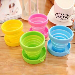 Silicone Camping Folding Cup Collapsible Trip Outdoor Telescopic Travel Tool