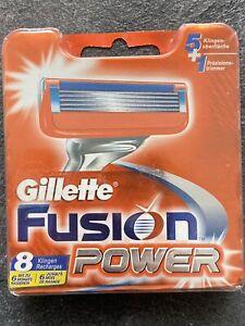 8 Stück Gillette Fusion Power 5 Rasierklingen + 1 Präzisionstrimmer