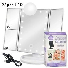 Superstar Magnifying Mirror w/ Touch Sensitive Light Control x2 , x3 22 LEDs