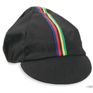 Pace Sportswear Black World Champion Hat Cotton Cycling Cap