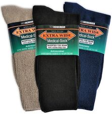 Extra-Wide Medical (Diabetic) Socks for Men (Choose Color & Size), 3 pairs