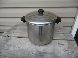 REVERE WARE 8qt Quart STOCKPOT With Lid Stainless Steel