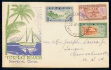 TOKELAU ISLANDS FDC 1948 COVER ISLAND VIEW SCENES COMBO