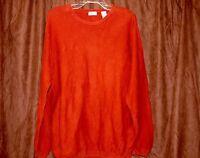 Men's IZOD Long Sleeve Crew neck Sweater Shirt XL 100% Cotton Warm
