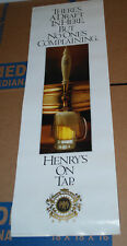 Henry's on Tap 1989 promotional poster