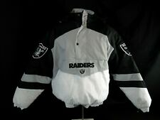 $160 OAKLAND RAIDERS Quarter Zip NFL Team Apparel 3rd Collection Jacket BLK (L)