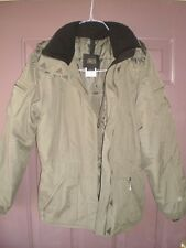 Nils Cold Weather Khaki Green Hooded Jacket Womens Sz 8