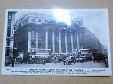 1932 Used REAL PHOTO POSTCARD- MANSION HOUSE & QUEEN VICTORIA STREET LONDON