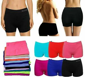 Womens Knickers Underwear Shorts Stretch Yoga Boxers Sports Soft Hot Pants lot