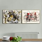 Combo Painting 2 Pieces by Jackson Pollock Framed Canvas Giclee Print Series #6