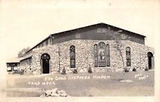 Milford Indiana~Camp Alexander Mack~Good Shepherd Window~Chapel~1940s RPPC