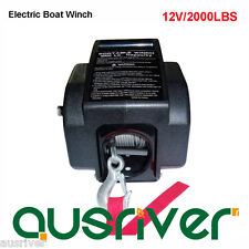 Brand New 12V 2000LBS Electric Marine Boat Winch Detachable Portable Gear Gearsh