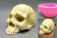 Silicone Skull Mould Fondant Cake Resin Mold Gypsum Chocolate Candle Skeleton