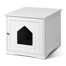 Multi-function Pet Cat House Weatherproof w/Hole Outdoor Indoor Decoration White
