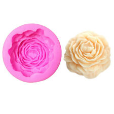 Peony Flower Aromatherapy Candle Wax Silicon 3D Soap Mold Diy Making Supplies