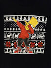 Dabbing Bart Simpson Youth L T-shirt Ugly Sweater Merry Christmas Dab Dance Kids