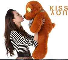 "24in.Personalised Teddy Bear ""Dark Brown ""Plush Soft Toys Doll Gift + Free Ship"