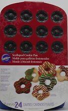 Wilton 24 Cavities Scalloped Cookie Pan 2105-6414 Nwt