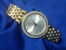 Michael Kors Gold Tone White Rhinestone watch, new battery