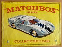 Original Matchbox Lesney Superfast Collectors Carry Case Artwork Cover Insert