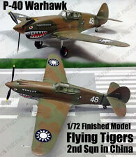WWII P-40 Warhawk Flying Tigers 2nd Sqn in China 1/72 finished plane Easy model