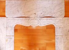 Carrara Marble Fireplace Trim Edging Mask facade Antique Modern