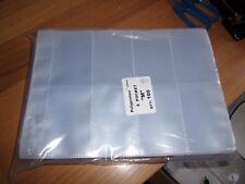 More details for 50 x 8 pocket plastic cigarette card album page sleeves for glen & 2 ring album