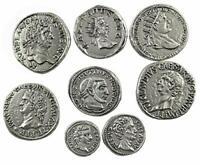 Eurofusioni Monnaies Antiques Romaines plaqué Argent - Set 8 pièces