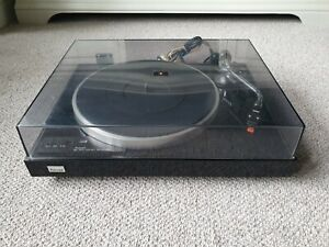 SANSUI SR-222 MKII Turntable Piano Black Record Player With SC-50 Cartridge