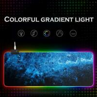 RGB LED Computer Mousepad  Large Mouse Gaming Mouse Pad with Backlight Carpet