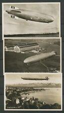 3 Photo postcards WWII GRAF ZEPPELIN Mint Superb H2389