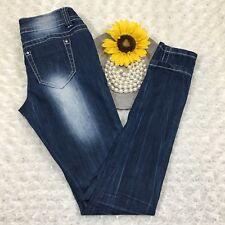 Almost Famous Women Slim Skinny Jeans Size 1 - 27x30 Stretch Blue Denim AR905