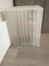 10 Clear Dvd, Cd, new multimedia, movie, storage cases Bundle Heavyduty plastic