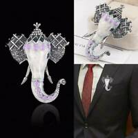 Retro Elephant Animal Brooch Pins Enamel Wedding Fashion Costume Jewelry Gifts