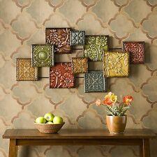 Southern Enterprises Bijou Wall Sculpture Earthy, Glazed Jewel Tones WS9373 New