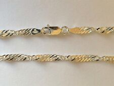BRAND NEW Genuine Solid 925 Sterling Silver Singapore Twist Pattern Bracelet
