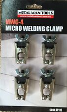 MICRO WELDING PANEL CLAMPS (set of 4)  PANEL BEATING CLAMPS, SHEETMETAL CLAMPS
