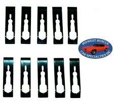 67-81 GM Body Trunk Lower Rocker Panel Belt Vinyl Top Molding Trim Clips 10pc WW