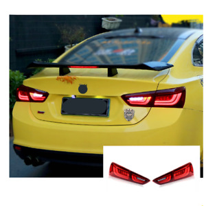 LED Tail Lights For Chevrolet Malibu 16-18 Sequential Signal Red Replace OEM