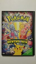 Pokemon the First Movie Mewtwo vs Mew (DVD, 2000) OOP RARE