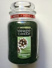 Yankee Candle SHIMMERING PINE 22 oz. LARGE JAR HTF HOLIDAY SCENT