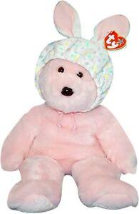 "TY BEANIE BUDDY * BONNET * THE PINK HARRODS EXCLUSIVE TEDDY BEAR 14"" (35cm) RARE"