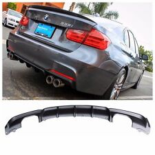 2012-17 BMW F30 335i M PERFORMANCE STYLE SPORT REAR BUMPER QUAD CUTOUT DIFFUSER