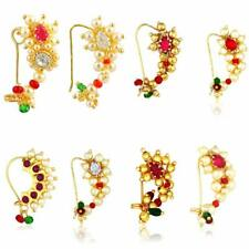 Marathi Nath Nose ring Traditional Jwellery Non pierced (8 pcs) COMBO PACK
